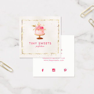 ★ Beautiful  Patisserie ,Bakery ,Cakes & Sweets Square Business Card