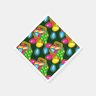 Beautiful pattern with Easter basket Disposable Serviette