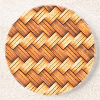 beautiful pattern wood fashion style rich looks coaster
