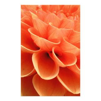Beautiful Peach Colored Dahlia Flower Petals Stationery