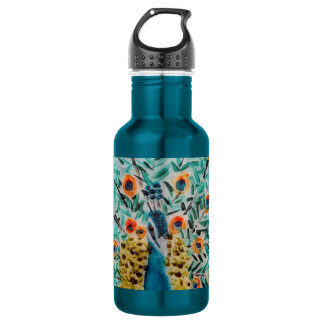 Beautiful Peacock Art 532 Ml Water Bottle
