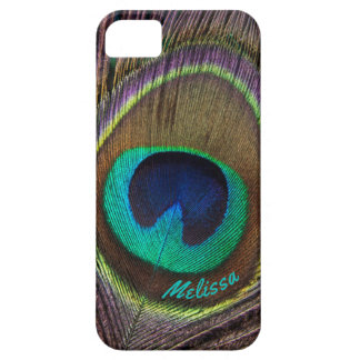 Beautiful Peacock Feather Eye, Your Name Case For The iPhone 5