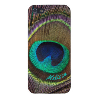 Beautiful Peacock Feather Eye, Your Name iPhone 5/5S Cover