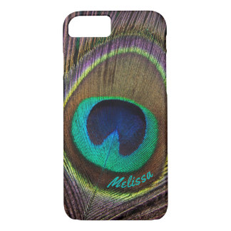 Beautiful Peacock Feather Eye, Your Name iPhone 8/7 Case
