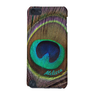 Beautiful Peacock Feather Eye, Your Name iPod Touch 5G Cases
