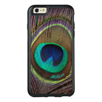 Beautiful Peacock Feather Eye, Your Name OtterBox iPhone 6/6s Plus Case