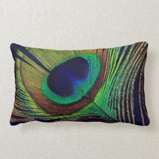 beautiful peacock feather original  photo art lumbar cushion