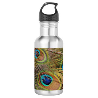 Beautiful Peacock Feathers 532 Ml Water Bottle