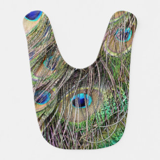 Beautiful Peacock Feathers Bib