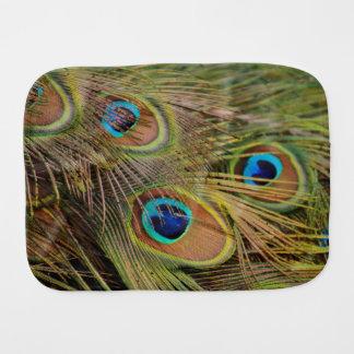 Beautiful Peacock Feathers Burp Cloth