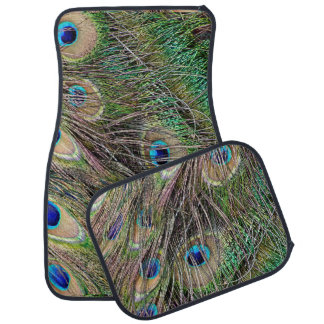 Beautiful Peacock Feathers Floor Mat