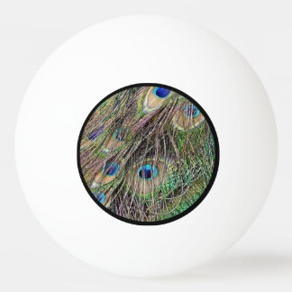 Beautiful Peacock Feathers Ping Pong Ball