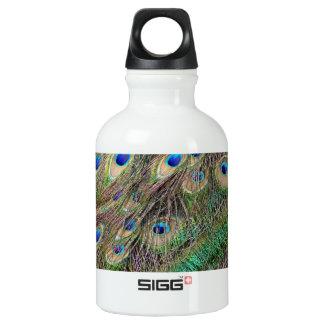 Beautiful Peacock Feathers Water Bottle