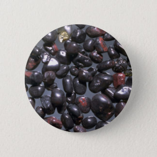 Beautiful Pebbles from Magnetite, Oneuli, Puu Olai 6 Cm Round Badge