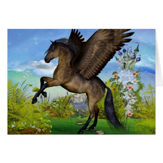 Beautiful Pegasus Greeting Card