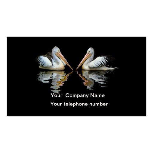 Beautiful pelicans black custom business card