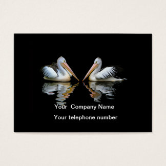 Beautiful pelicans black custom business card