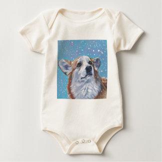 Beautiful Pembroke Welsh Corgi Fine Art Baby Bodysuit