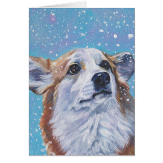 Beautiful Pembroke Welsh Corgi Fine Art Greeting Card