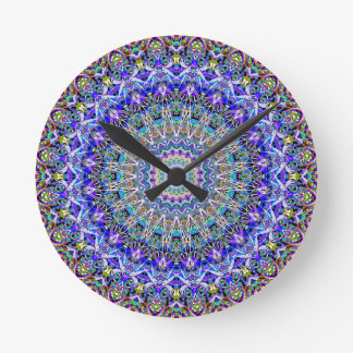 Beautiful Persian Blue Kaledoscope Round Clock