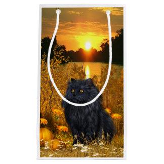 Beautiful persian kitty cat small gift bag