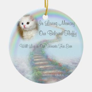 Beautiful Personalised Pet Memorial with Prayer Ceramic Ornament