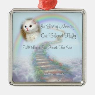 Beautiful Personalized Cat or Dog Memorial Metal Ornament