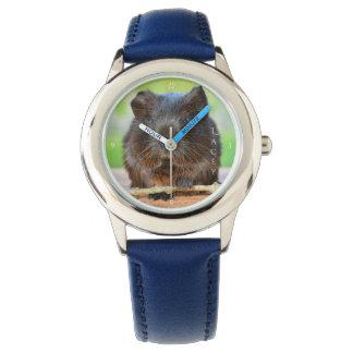 Beautiful Personalized Gold Agouti Guinea Pig Wristwatches