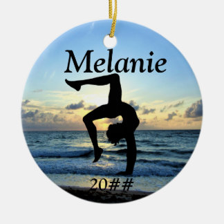 BEAUTIFUL PERSONALIZED GYMNASTICS ORNAMENT