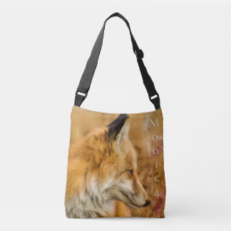 Beautiful Personalized Red Fox Design Crossbody Bag