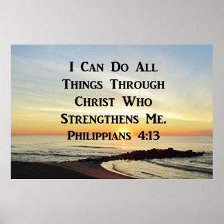 BEAUTIFUL PHILIPPIANS 4:13 PHOTO DESIGN POSTER