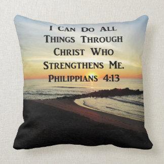 BEAUTIFUL PHILIPPIANS 4:13 PHOTO DESIGN THROW PILLOW