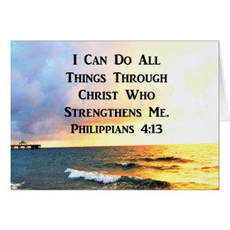 BEAUTIFUL PHILIPPIANS 4:13 SCRIPTURE PHOTO CARD