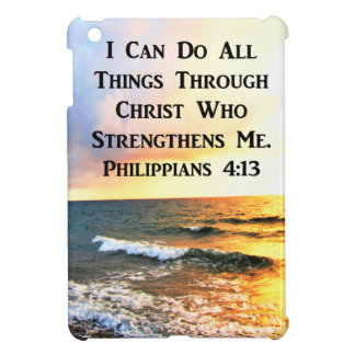 BEAUTIFUL PHILIPPIANS 4:13 SCRIPTURE PHOTO iPad MINI COVER