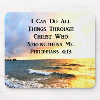 BEAUTIFUL PHILIPPIANS 4:13 SCRIPTURE PHOTO MOUSE PAD