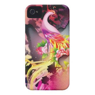 beautiful phoenix bird colourful background image iPhone 4 Case-Mate case