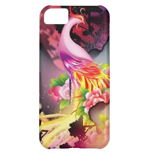 beautiful phoenix bird colourful background image iPhone 5C covers