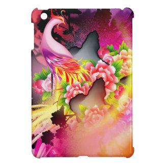 beautiful phoenix on colourful effects iPad mini covers