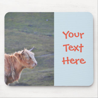 Beautiful Photograph Long Hair Cattle Heifer Horns Mouse Pad