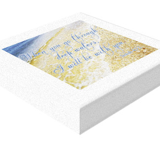 """Beautiful Picture + Bible Verse Canvas 12"""" x 12"""""""
