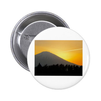 Beautiful Picture of Mt Fuji in Japan Buttons