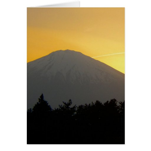 Beautiful Picture of Mt. Fuji in Japan Greeting Cards