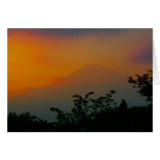 Beautiful Picture of Mt. Fuji in Japan Greeting Card