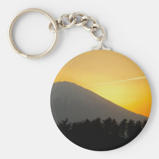 Beautiful Picture of Mt. Fuji in Japan Keychain
