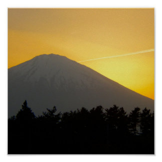 Beautiful Picture of Mt. Fuji in Japan Poster