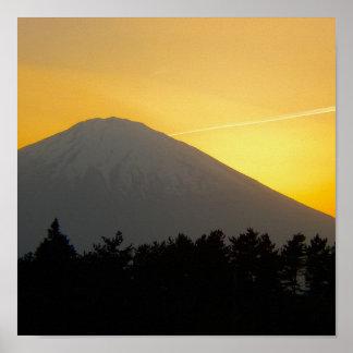 Beautiful Picture of Mt Fuji in Japan Print
