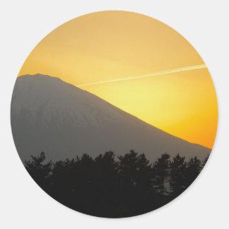 Beautiful Picture of Mt. Fuji in Japan Round Sticker