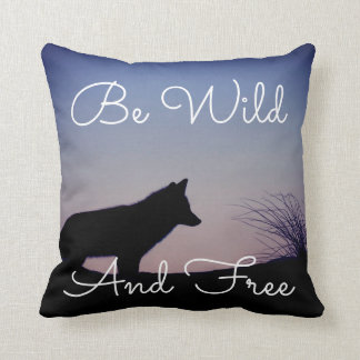 Beautiful pillow with a fox, be wild and free