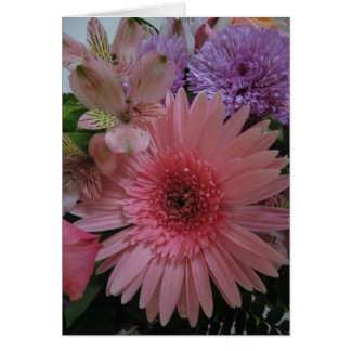 Beautiful Pink and Purple Flowers Blank Greeting Card