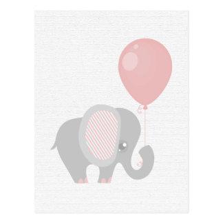 Beautiful Pink Baby Elephant Postcard